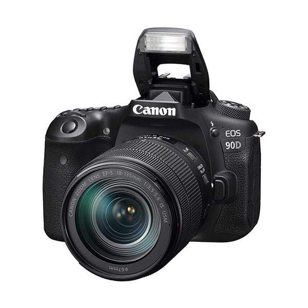 Canon EOS 90D Digital SLR Camera (Black) + EF-S 18-135mm f/3.5-5.6 IS USM Lens