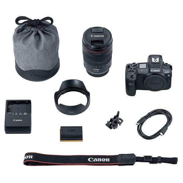 Canon EOS R Mirrorless Digital Camera (Black) + RF 24-105mm F/4L IS USM Lens + Mount Adapter EF-EOS R Kit