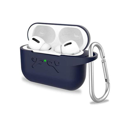 Mobileleb.com Cases & Screen Protectors Dark Blue Airpods Pro Silicone Protective Case with Anti-Lost Carabiner, Well Fits and Durable Anti-Shock