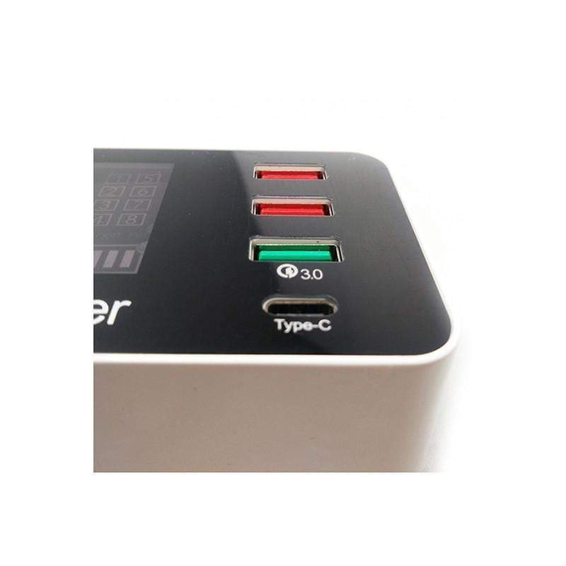 USB Smart Charging Station, 8 Ports + Type-C