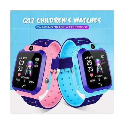 Mobileleb.com Children Q12 Kids Smart Watch Model Q12, Child Wristwatch Water Resistant IPX4 GPS LBS, Voice Chat, GPS Finder Locator Tracker, Anti Lost Monitor