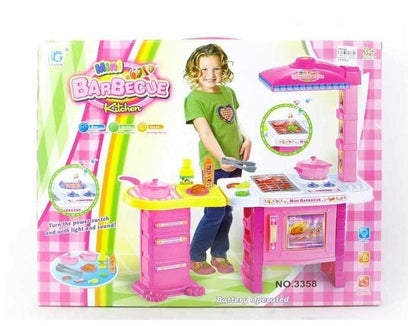 Mini Barbecue Kitchen Set with Light and Sound Kitchen Toy