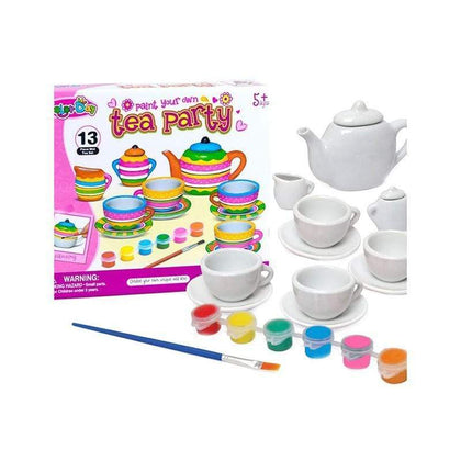 Paint Your Own Tea Party - 13 Pcs - Ages 5+