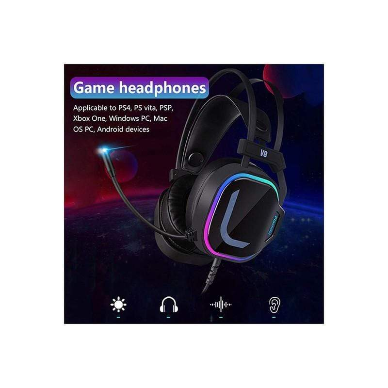 V8 Gaming Headset 7.1 PC Computer Game Headphone for PS4 Xbox ONE PC Gaming Headset RGP Streamer
