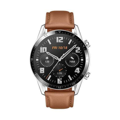 Mobileleb.com Huawei Watch GT 2, 46mm, Sport Edition, Bluetooth SmartWatch, 1.39 Inch AMOLED Display with 3D Glass Screen, 2 Weeks Battery Life, GPS, SpO2, 15 Sport Modes, 3D Glass Screen, Bluetooth Calling Smartwatch, Classic Pebble Brown
