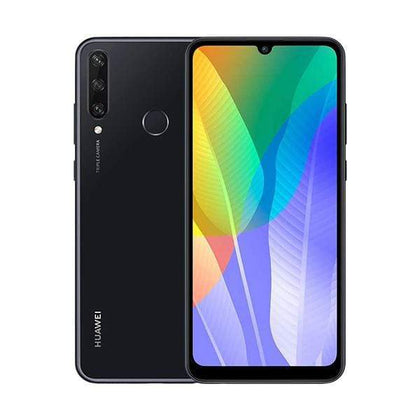 Mobileleb.com Midnight Black / Brand New / 1 Year Huawei Y6p 2020, 3GB/64GB, 6.3 Inch IPS LCD Display, Octa core CPU, Rear Cam Triple 13MP + 5MP + 2MP, Selfie Cam 5MP, Fingerprint (rear-mounted)