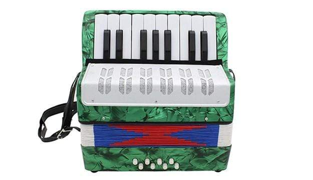 Class A Mini Small 17-Key 8 Bass Accordion Musical Instrument Toy For Kids
