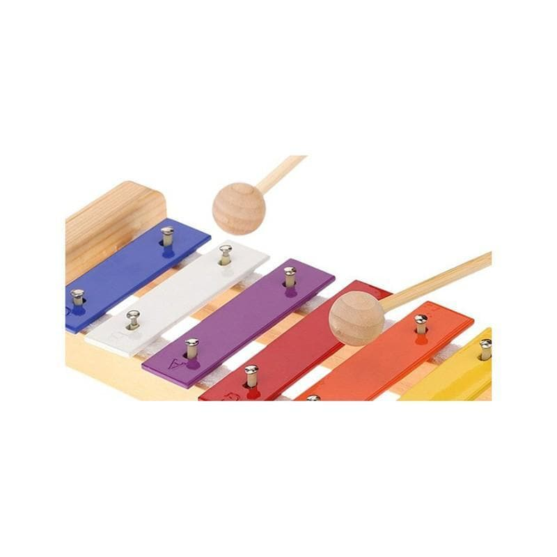 Wood Pine Xylophone Percussion Musical Toy With 15-Note Colorful Aluminum Plate C Key