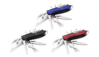 15 In 1 Stainless Steel Survival Portable Folding Pocket Knife