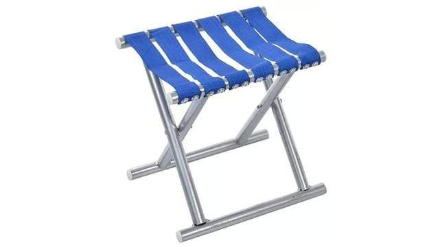 Tied Ribbons Blue Folding Stool - Seat Height 40 cm
