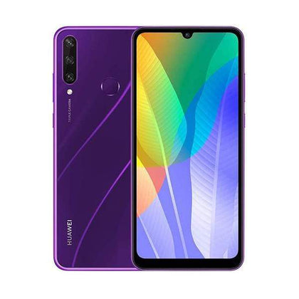 Mobileleb.com Phantom Purple / Brand New / 1 Year Huawei Y6p 2020, 3GB/64GB, 6.3 Inch IPS LCD Display, Octa core CPU, Rear Cam Triple 13MP + 5MP + 2MP, Selfie Cam 5MP, Fingerprint (rear-mounted)