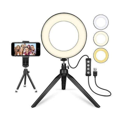Mobileleb.com Selfie Sticks & Tripods 16CM Selfie Kick Stand Led Ring Light