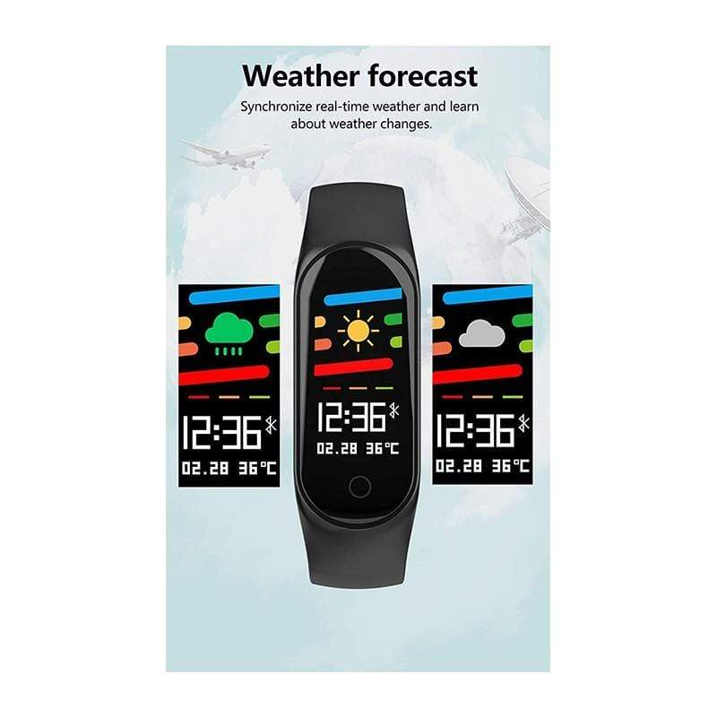 M4 Smart Bracelet, Color Screen Fitness Tracker Blood Pressure Heart Rate Monitor Sleep Monitor Step Counter Pedometer Watch