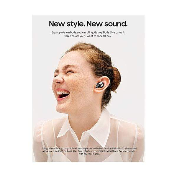 Samsung Galaxy Buds Live, True Wireless Earbuds w/Active Noise Cancelling (Wireless Charging Case Included)