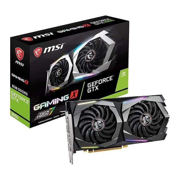 MSI Gaming 6GB GDRR5 GeForce GTX 1660 128-Bit HDMI/DP HDCP Support DirectX 12 Dual Fan VR Ready OC Graphics Card (GTX 1660 Gaming X 6G)