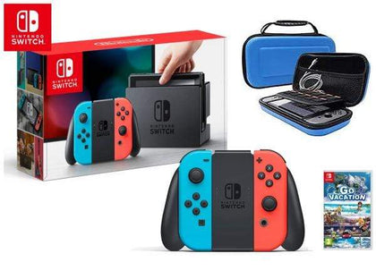 Nintendo Switch 32 GB - Multi Color + Go Vacation + Carrying Case