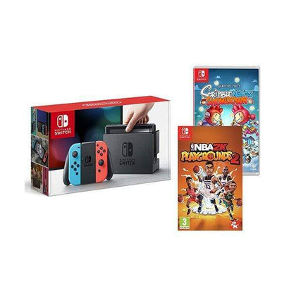 Nintendo Switch 32 GB - Multi Color + Nba 2K Playgrounds + Scribblenauts Showdown