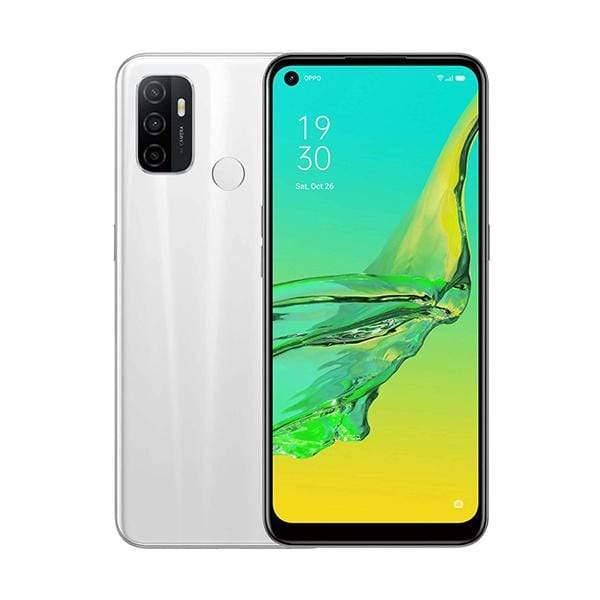 OPPO Mobile Phone Fairy White / Brand New / 1 Year OPPO A53 2020, 6GB/64GB, 6.5″ IPS LCD Display, Octa-core, Triple Rear Cam 13MP + 2MP + 2MP, Selphie Cam 16MP, Fingerprint (rear-mounted)