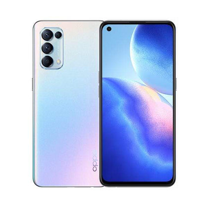 OPPO Mobile Phone Fantasy Silver / Brand New / 1 Year Oppo Reno5 4G, 8GB/128GB, 6.4″ AMOLED 90Hz Display, Octa-core, Quad Rear Cam 64MP + 8MP + 2MP + 2MP, Selphie Cam 44MP, Fingerprint (under display, optical)