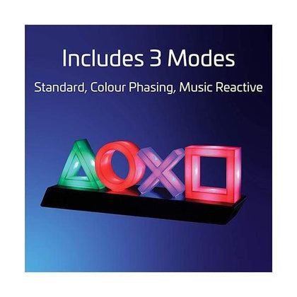 Paladone Game Room Lighting Playstation Icons Light with 3 Light Modes - Music Reactive Game Room Lighting