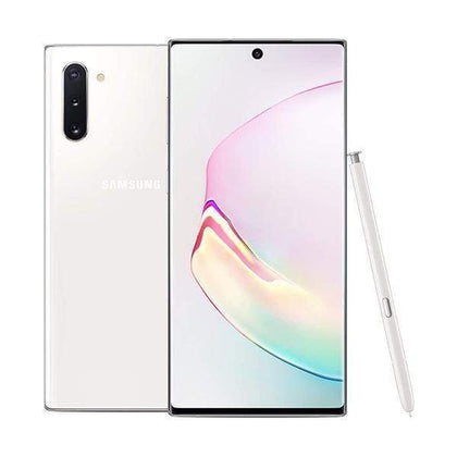 Samsung Mobile Phone Aura White Samsung Galaxy Note 10, 6.3 inches, 8GB, 256 GB with Free JBL Flip 4 Speaker + JBL Endurance Jump Headset + Galaxy Fit E Mini