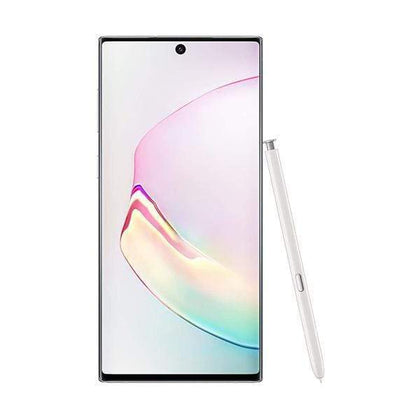 "Samsung Mobile Phone Aura White Samsung Galaxy Note 10 8GB/256GB, Octa core CPU-6.3"" Dynamic AMOLED, Triple Rear Camera 12MP + 12MP + 16MP, Front Camera 10MP, Fingerprint (under display, ultrasonic)"