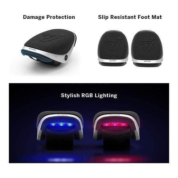 Ninebot Segway Drift W1, Electric Roller Skates Hovershoes, Two Wheels self Balancing Scooter with RGB LED, Rollerblades for Kids and Adults