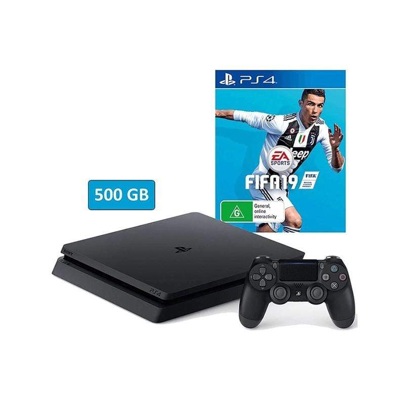 Sony PlayStation 4 500GB + FIFA 19 Arabic Edition Bundle - HDR - PSVR Ready