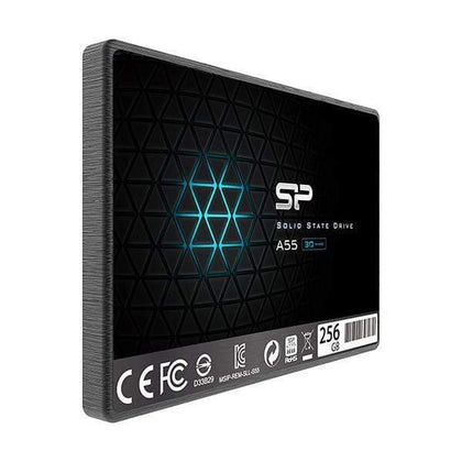 Silicon Power 256GB SSD 3D NAND A55 SLC Cache Performance Boost SATA III 2.5