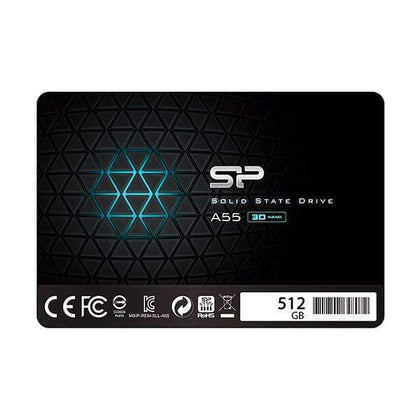 Silicon Power 512GB SSD 3D NAND A55 SLC Cache Performance Boost SATA III 2.5