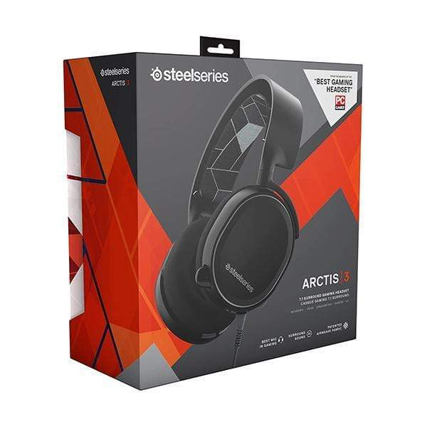 SteelSeries Arctis 3 - All-Platform Gaming Headset - For PC, PlayStation 4, Xbox One, Nintendo Switch, VR, Android, and iOS