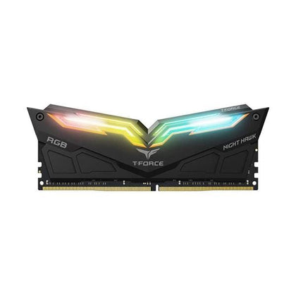 Team Computer Memory Team T-Force Night Hawk RGB 16GB (2 x 8GB) 288-Pin DDR4 SDRAM DDR4 3200 (PC4 25600) Memory (Desktop Memory) Model TF2D416G3200HC16CDC01 (White)