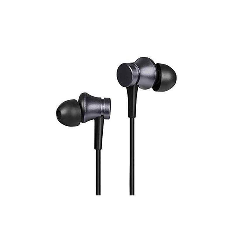 Mi Earphones Basic (with in-built mic) Black - Compatible with all Android, iOS and Mi devices