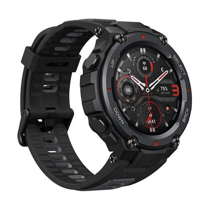 Xiaomi Smartwatch, Smart Band & Activity Trackers Meteorite Black / Brand New / 1 Year Amazfit T-Rex Pro Smartwatch Fitness Watch with Built-in GPS, Military Standard Certified, 18 Day Battery Life, SpO2, Heart Rate Monitor, 100+ Sports Modes, 10 ATM Waterproof, Music Control