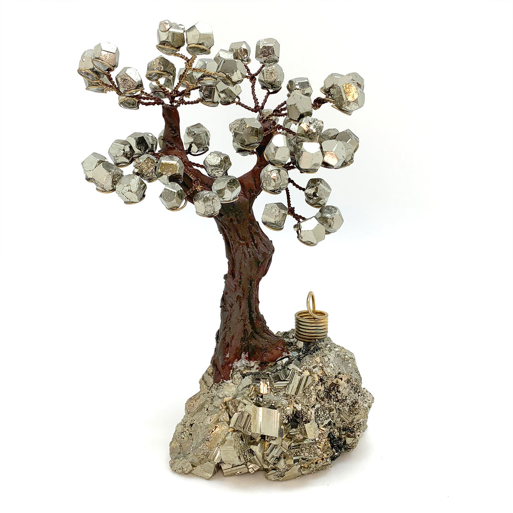 Pyrite Stone Bonsai Tree for Prosperity and Abundance