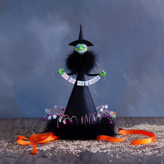 Witchy Party Hat Centerpiece