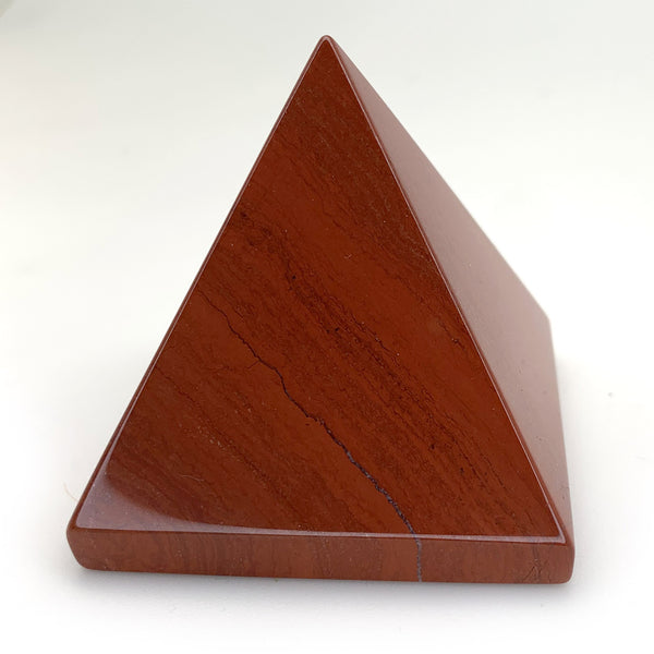 Polished Red Jasper Stone Pyramid