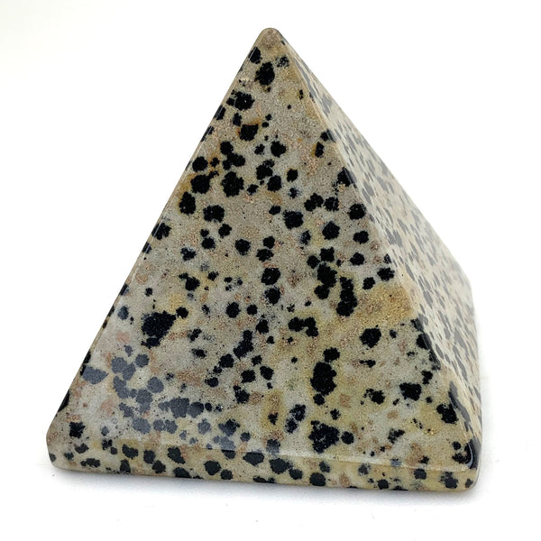 Dalmatian Jasper Pyramid for protection and joy