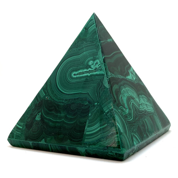 Products Polished Malachite Pyramid for Emotional Release and Growth