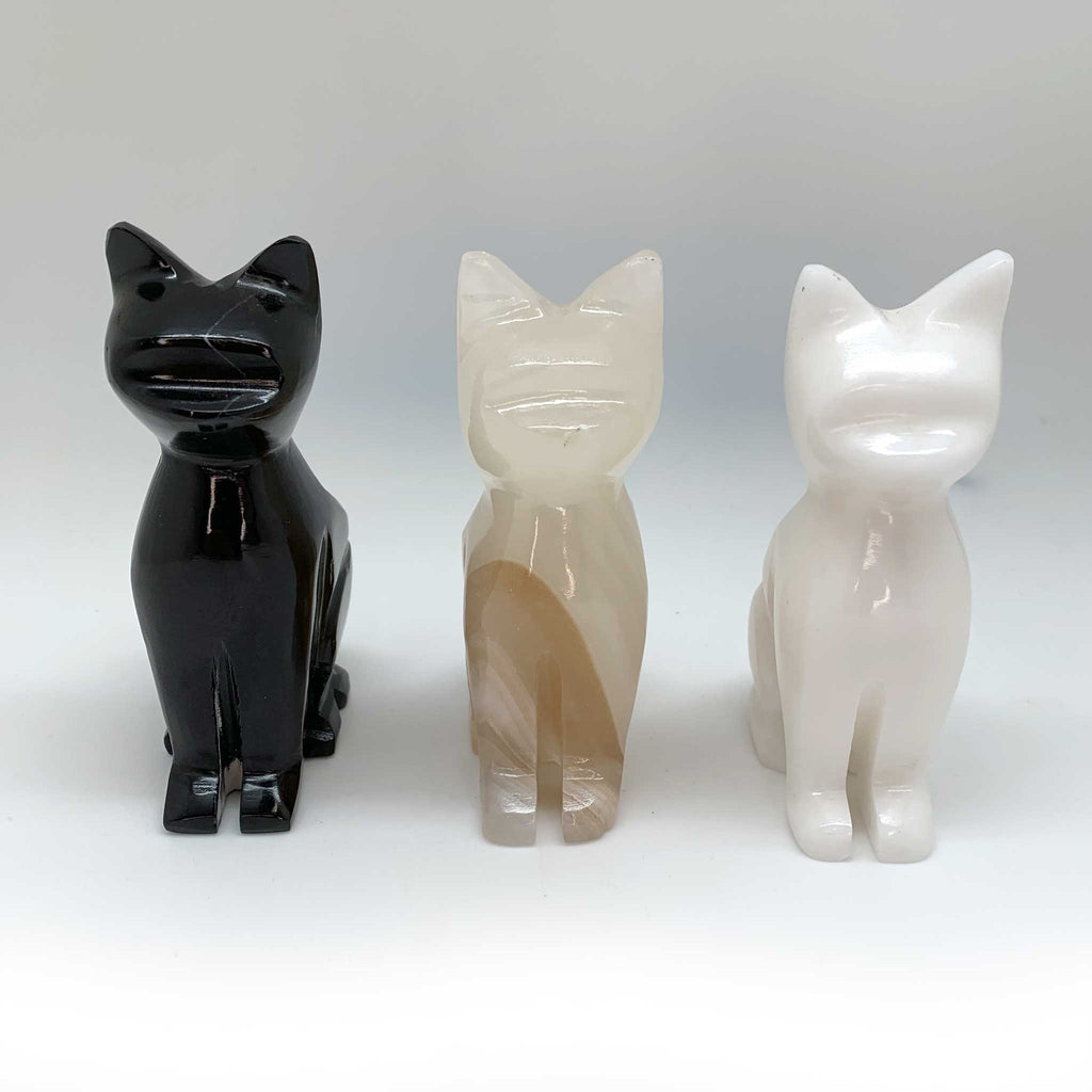 Aragonite Cats for Inner Balance