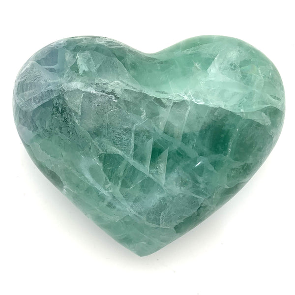 Large Green Fluorite  Heart 12cm