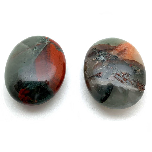 Bloodstone Palm Stones for new ideas, willpower, authenticity