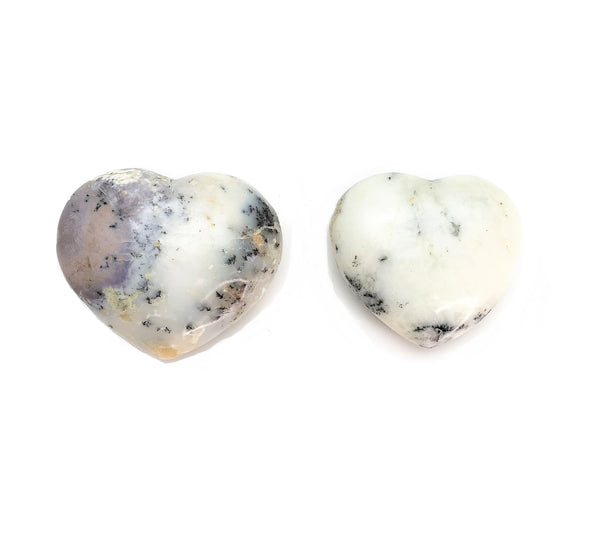 Agate Dendrite Heart for plentitude, enhancing business, full life