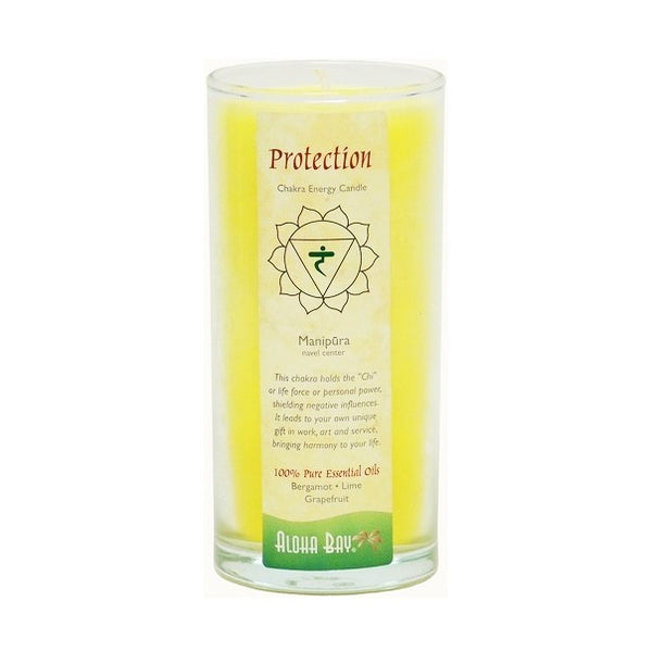 Protection Manipura Chakra Energy Jar Candle