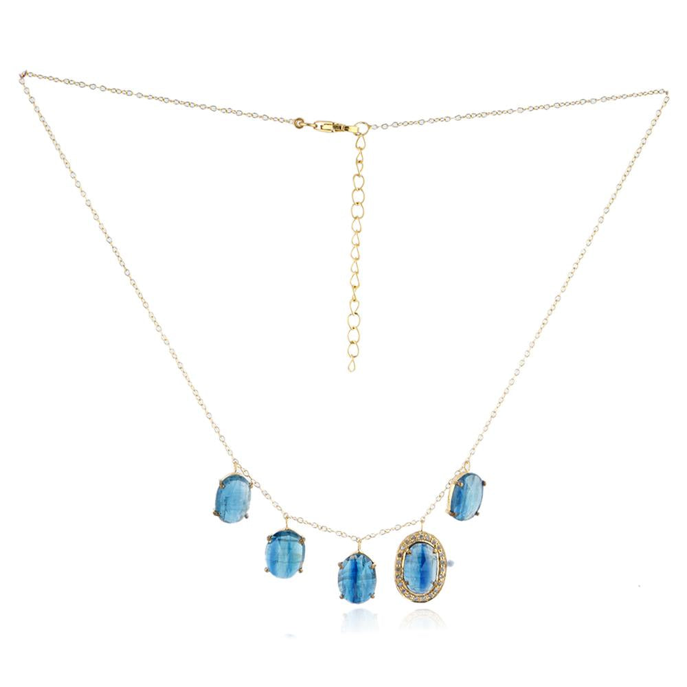 Eliza Kyanite & Diamond Necklace