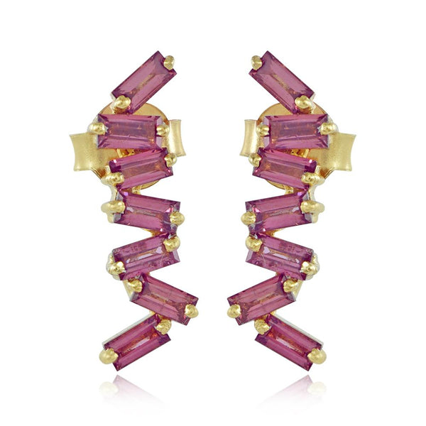 Klara Rhodolite Earrings