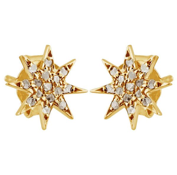 Star Simone Diamond Studs in Gold