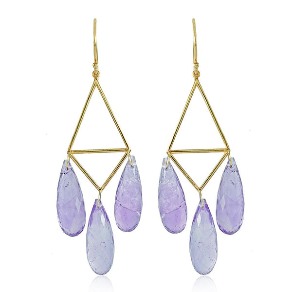 Tracy Amethyst Earrings