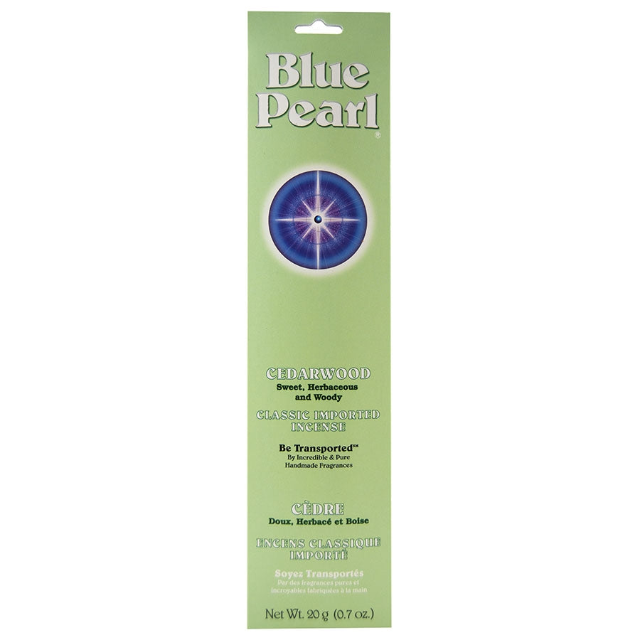 Blue Pearl Cedarwood Incense - Body Mind & Soul