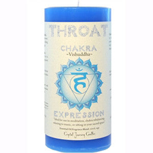 Throat Chakra Pillar Candle